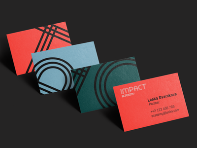 Impact Academy visual identity identity business card color graphic logo branding