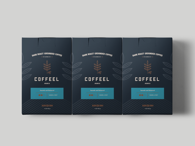 Coffee Packaging typography design texture branding logo geometric identity future color shape pattern graphic illustration