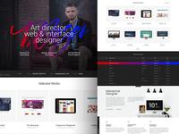 Personal Website Portfolio studio agency adaptive responsive interface ui ux portfolio personal web design web