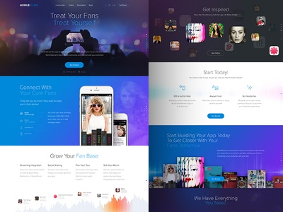 Mobile Roadie Music Landing Page