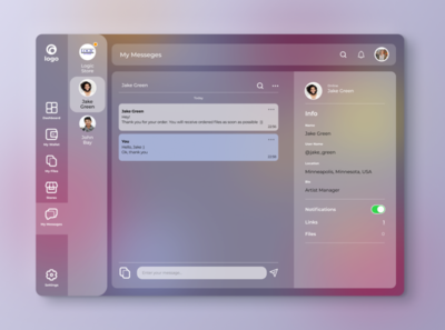 Direct Messaging messaging admin template figma 013 admin design direct messaging message admin panel web dailyui dailyuichallenge daily ui daily 100 challenge