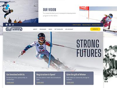Sun Valley Ski Education Foundation idaho ketchum sun valley snowboarding skiing design web ux branding ui wordpress webdesign uidesign galactic ideas