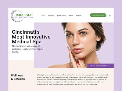 Limelight Laser & Medical Spa Website spa medical spa ui uidesign design galactic ideas wordpress webdesign web