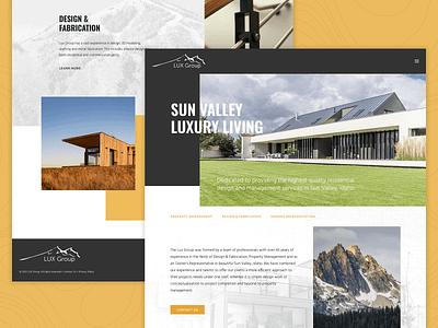The LUX Group of Sun Valley design illustration ui logo uxdesign web webdesign galactic ideas uidesign wordpress