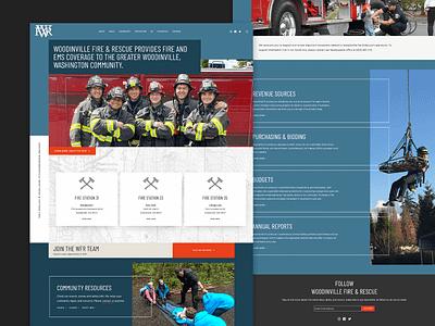 Woodinville Fire & Rescue Website government fire department responsive website design ui design web uxdesign galactic ideas uidesign webdesign wordpress