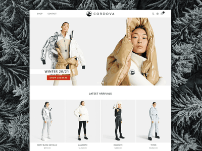 Cordova Winter 20/21 apre ski ski apparel skiing design web uxdesign galactic ideas webdesign shopify