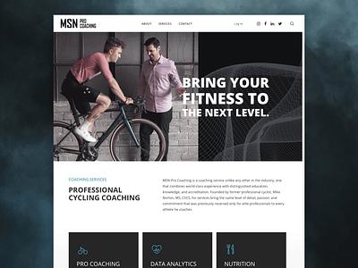 MSN Pro Coaching Website coaching biking cycling member portal design web uidesign galactic ideas webdesign wordpress