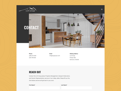 LUX Group Sun Valley - Contact page sun valley mountain life ski town property management logo web galactic ideas webdesign wordpress