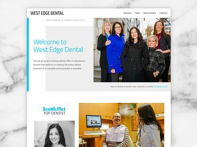 West Edge Dental in Seattle Washington dentist website dental website dentist uidesign ui design uxdesign web galactic ideas webdesign wordpress seattle wa