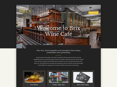 Brix Wine Café, Woodinville Washington restaurant website washington wine washington galactic ideas webdesign wordpress restaurant wine cafe wine