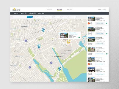 ReallyONE Real Estate interaction design real web application estate
