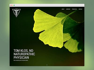 Tom Klos, ND Naturopathic Physician webdesign mindfulness naturopath wordpress