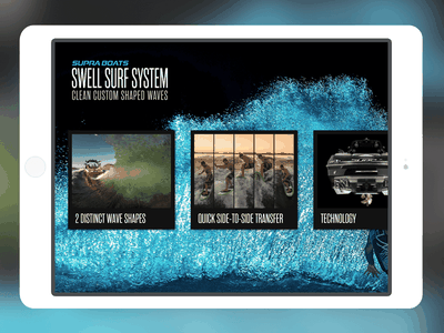 Supra Swell Surf System wakeboarding wakesurf userexperience uidesign ux uxdesign ipad ios