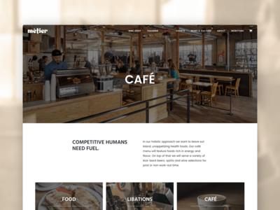 Métier Seattle Café Page