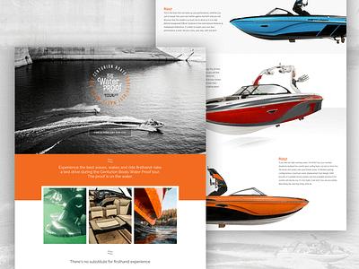 Centurion Boats Water Proof Tour 2017 wakesurfing wakeboat wakesurf uidesign website webdesign wordpress