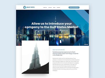 Gulf Data Services galactic ideas middle east dubai ui design uxdesign webdesign uidesign wordpress