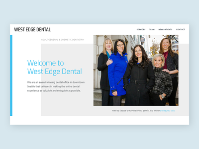 West Edge Dental galactic ideas dentist dental webpage branding web ui uxdesign uidesign webdesign wordpress