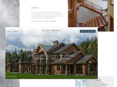 Estate Homes pacific northwest architecture uxdesign webdesign branding web galactic ideas uidesign wordpress