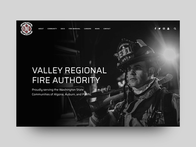 Valley Regional Fire Authority (VRFA.ORG) firefighter firemen fire department uidesign galactic ideas wordpress uxdesign webdesign