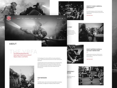 About the Valley Regional Fire Authority wordpress webdesign uxdesign uidesign galactic ideas firemen firefighter fire department