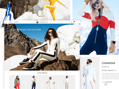 Cordova skier winter ski fashion fashion skiing uidesign web uxdesign galactic ideas webdesign shopify
