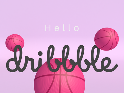 Hello Dribbble ! vector illustration 3d graphic design