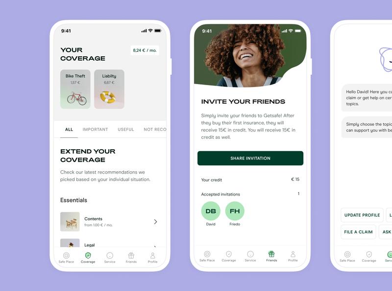 Rebranding Getsafe design productdesign getsafe typogaphy logo insurance app insurance app rebranding rebrand
