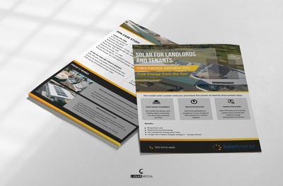 Flyer design for Solar Energy