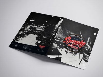 Speedy Pizza Menu Front and Back Design