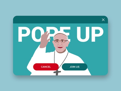 Pope up