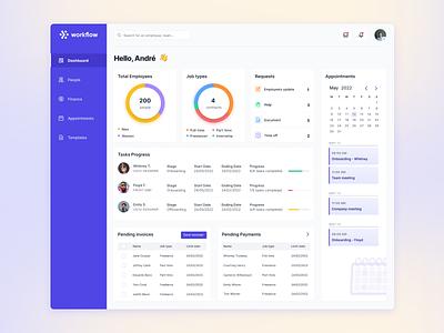 Employee Admin Template uidesign dashboard ui dashboard uiux ui design