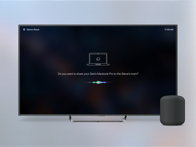 Apple video conference rooms concept apple tv visual voice commands clean apple homepod video conference ux ui apple