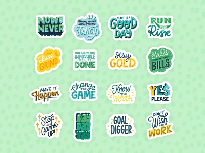 Passion Planner Sticker Pack 1/3 lettering procreate budget savings stickers illustration vector hand lettering