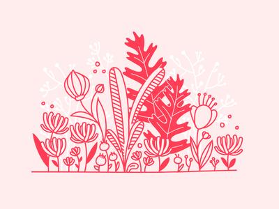 Herbs supplement vitamin flowers wildlife illustration vector plants nature herbs