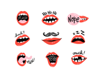 Mouth Stickers