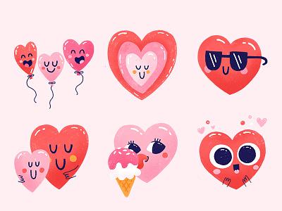 La La Love Snapchat Stickers valentine love cute ios imessage snapchat icons heart character