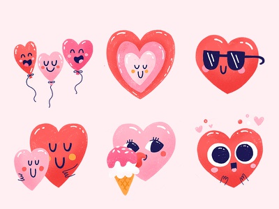 La La Love Snapchat Stickers valentine love cute ios imessage snapchat icons heart character