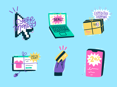 Cyber Monday Stickers for Snapchat