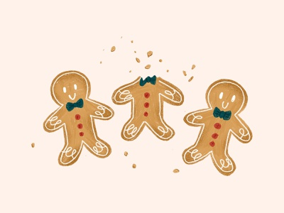 Christmas Cookies procreate xmas holidays festive character gingerbread man christmas cookie cute