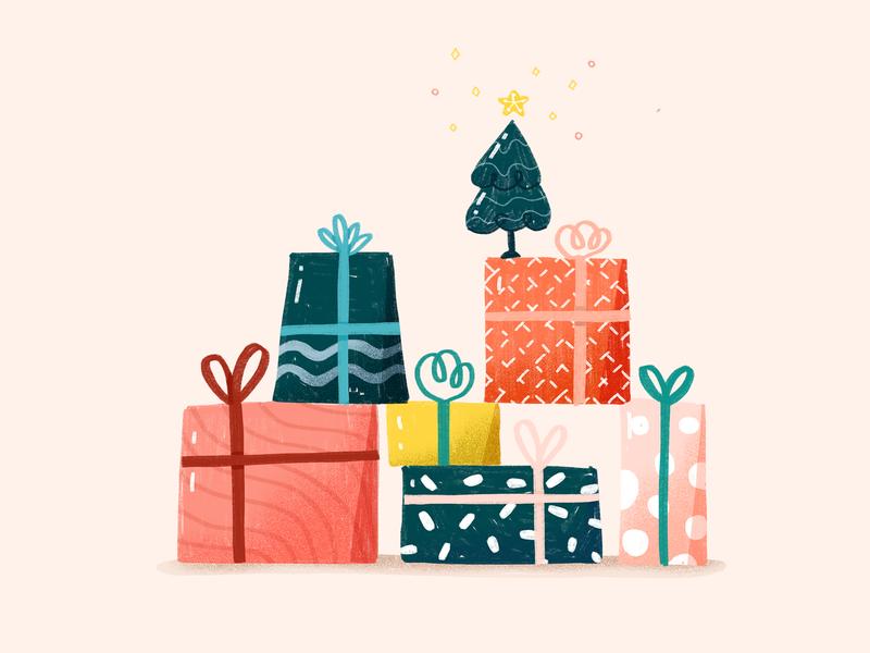Christmas Presents winter festive holiday christmas tree presents christmas