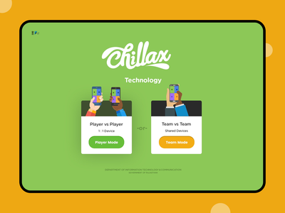Chillax Player Screen