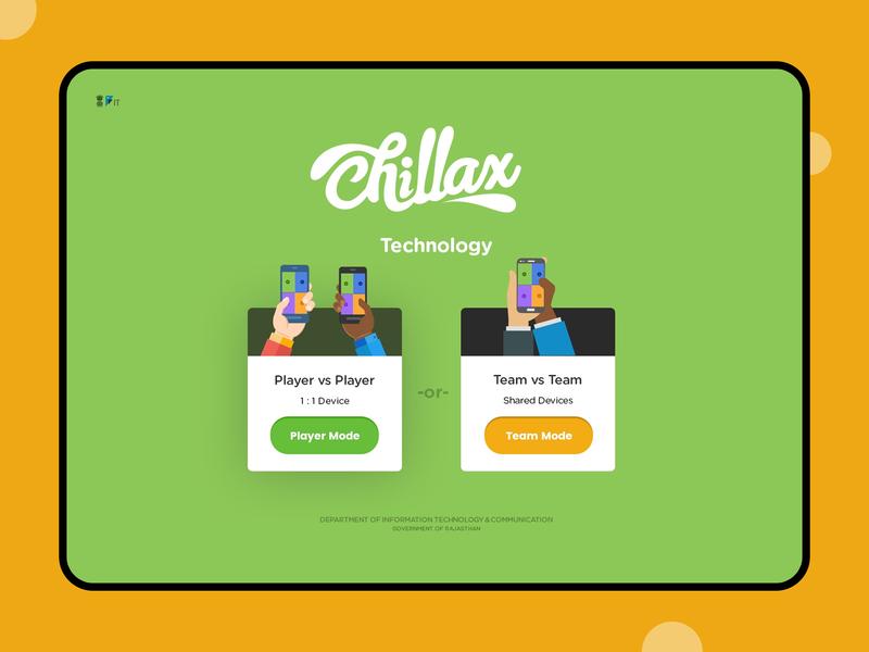 Chillax Player Screen screen branding illustration web typography games game ui design
