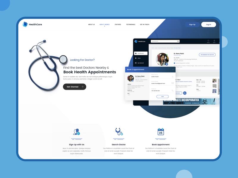 Landing Page branding web illustration typography screen design