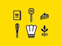 Icons for Chef Julie Basset