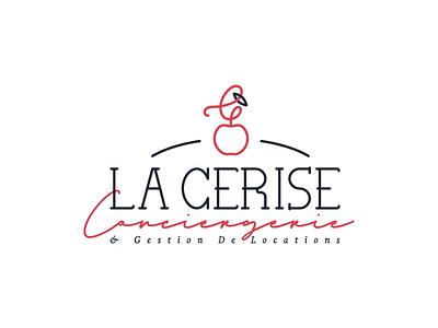 La Cerise conciergerie cerise cherry design logo