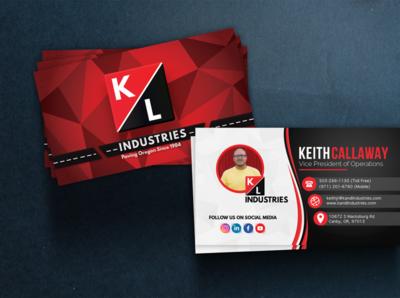 Business Card Design - K&L Industries
