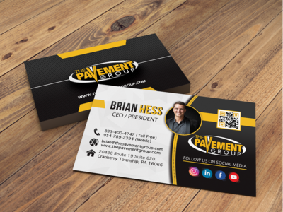 Business Card Design - Pavement Group