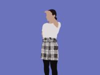 Plaid Skirt Fashion Illustration