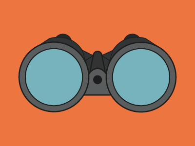 Binoculars Coloured flat design binoculars search icon