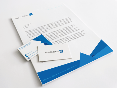 Branding & Stationery - Matt Needham PR stationery logo design brand branding